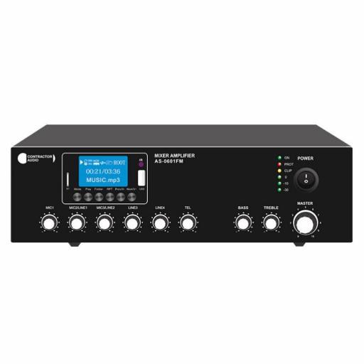Contractor Audio As-0601Fm Amplificador/Mezclador para Megafonía 60W Mp3/FM/BlueTooth