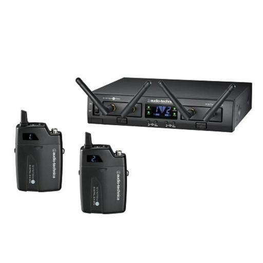 Audio-Technica Atw-1311 Sistema Inalámbrico Doble de Petaca [0]