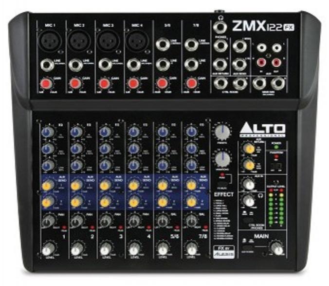 Alto Zmx122Fx Mesa de Mezclas