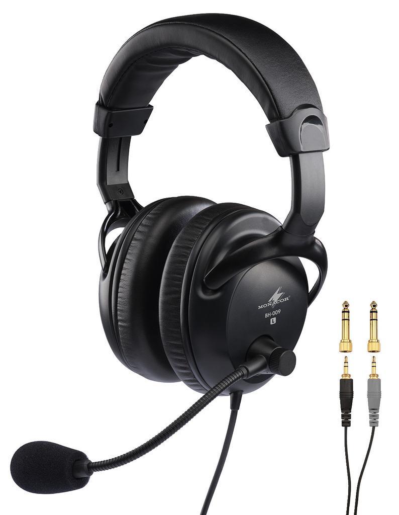 Monacor Bh-009 Auriculares con Micrófono