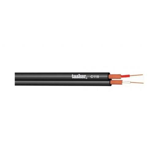 Tasker C118 Cable paralelo doble coaxial divisible 2 x 0,14 mm² (100 metros)
