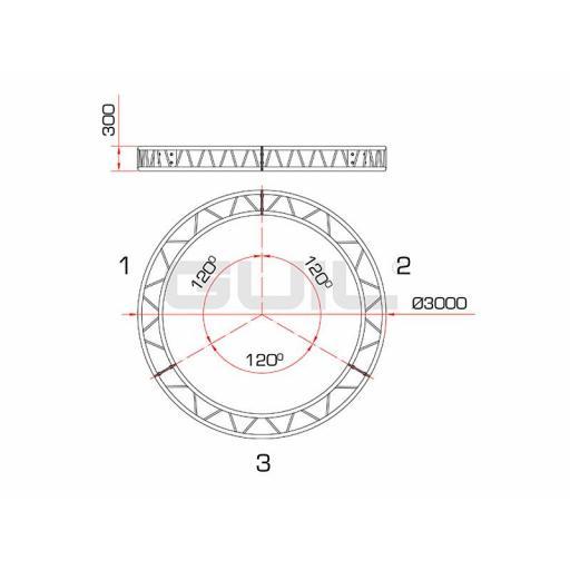 Estructura Circular Ø 3000 mm Ccq-3 [1]