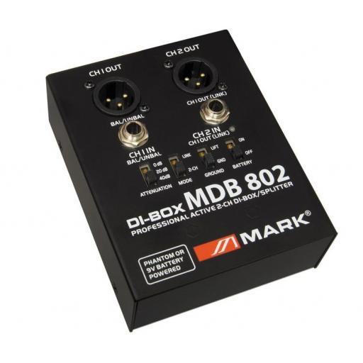 Mark Mdb 802 Caja de Inyección Activa de 2 canales