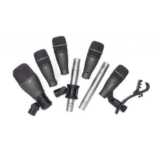 Samson Dk707 Pack de Micrófonos de Percusión