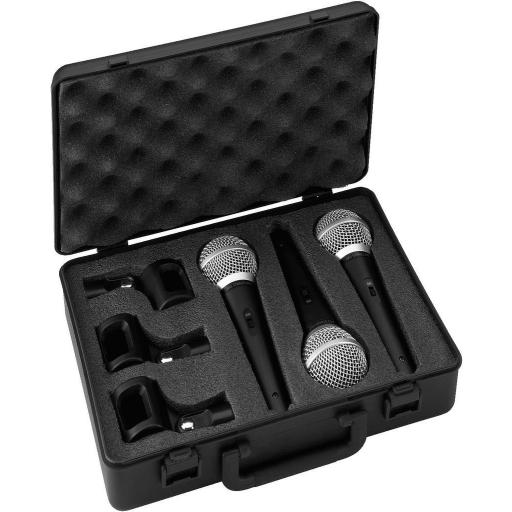 Stage Line Dm-3Set Micrófono Dinámico (Pack 3 unidades)