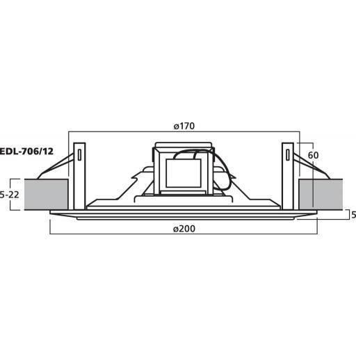 Monacor Edl-706/12 Altavoz de Techo (Pack 12 unidades) [1]