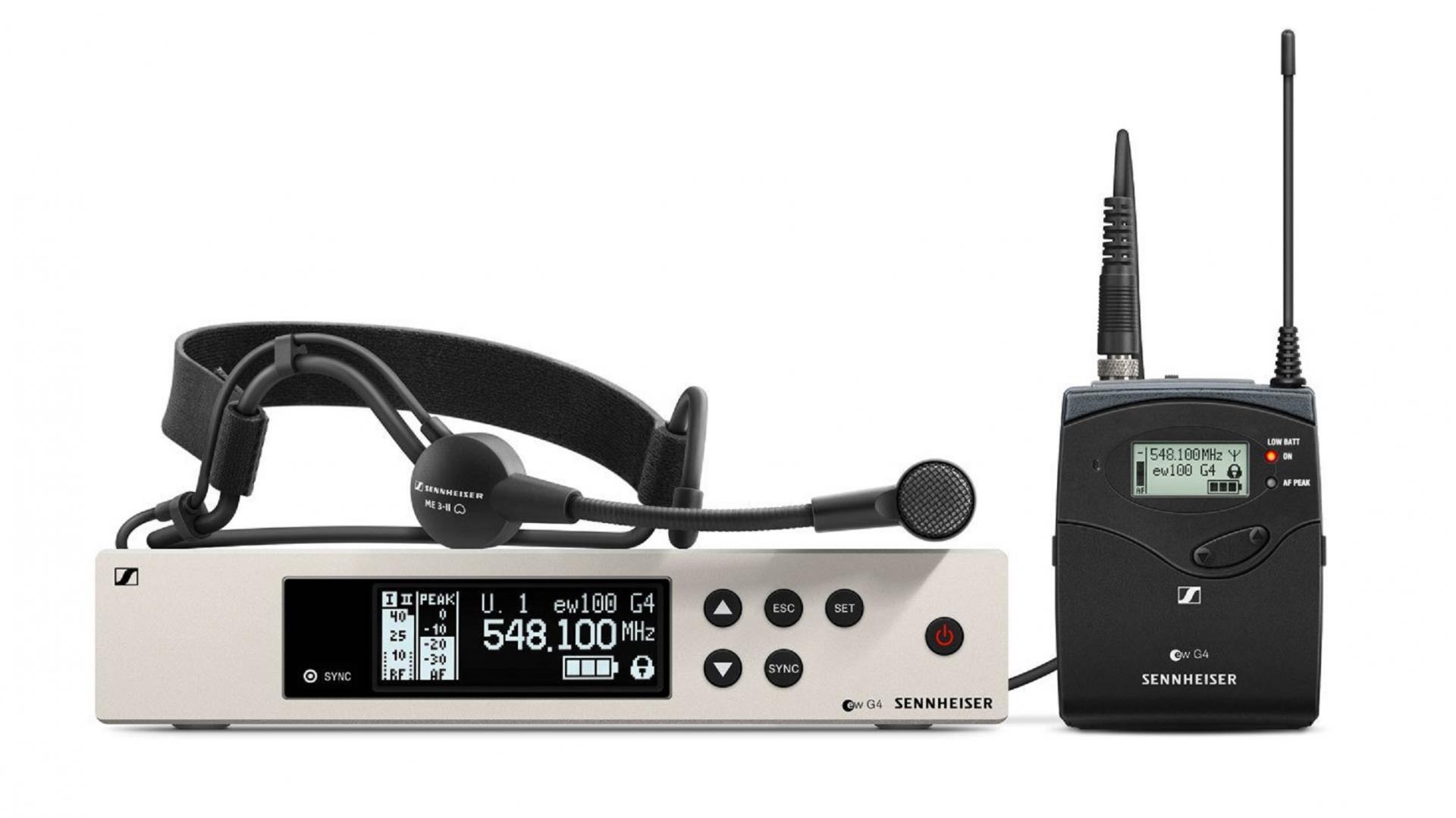 Sennheiser Ew 100 G4-Me3 Sistema inalámbrico de Cabeza