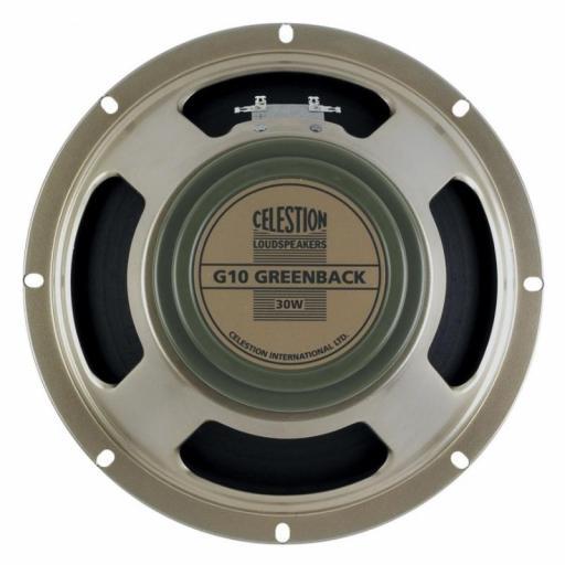 "Celestion G10 Greenback 8 Ohms Altavoz 10"" para Amplificador de Guitarra"