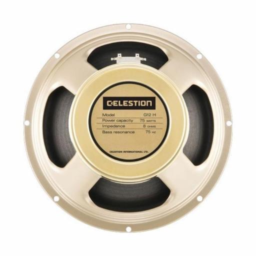 "Celestion G12H-75 Creamback 8 Ohms Altavoz 12"" para Amplificador de Guitarra"