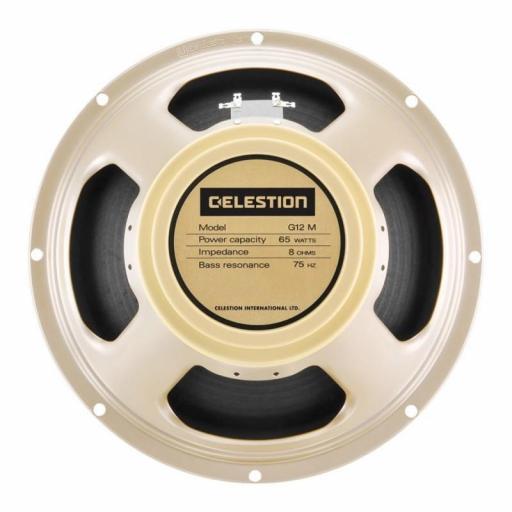 "Celestion G12M-65 Creamback 8 Ohms Altavoz 12"" para Amplificador de Guitarra"