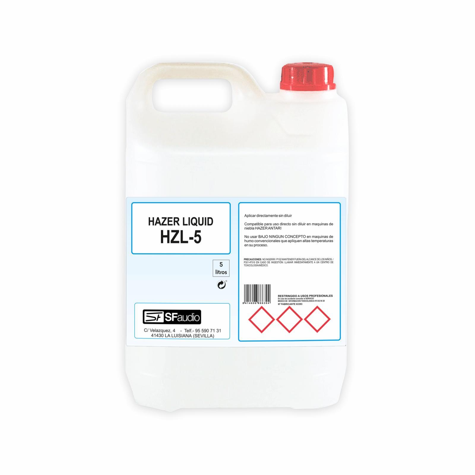 Líquido de Niebla Hazer Hzl5 (5 lts.)