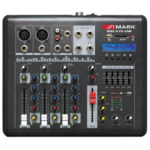 Mark Max 4 Fx Usb Mesa de Mezclas