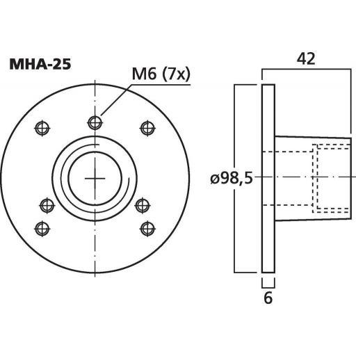 Adaptador para Motor de Agudos Mha-25 [1]