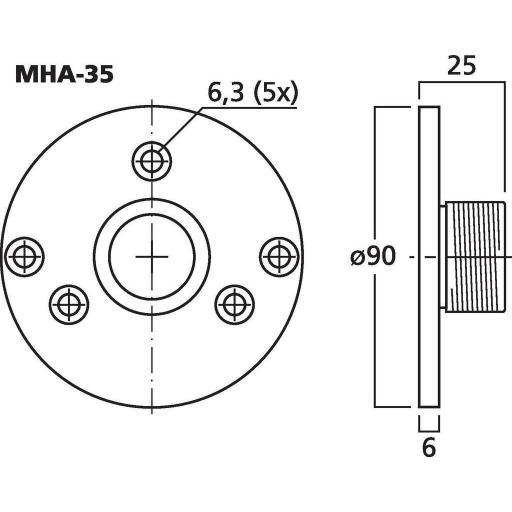 Adaptador para Motor de Agudos Mha-35 [1]