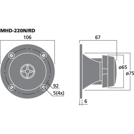 Stage Line MHD-220N/RD Altavoz de Agudos [1]