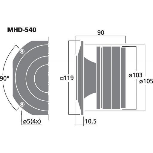 Stage Line Mhd-540 Altavoz de Agudos [1]
