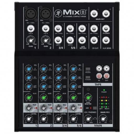 Mackie Mix8 Mesa de Mezclas
