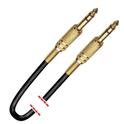 Cable señal audio 1 Jack Estéreo a 1 Jack Estéreo