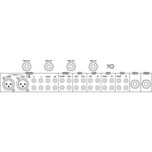 Mezclador Dj Stage Line Mpx-206/Sw [1]