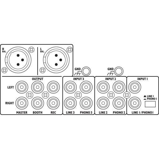 Stage Line Mpx-30Dmp Mezclador Dj [1]