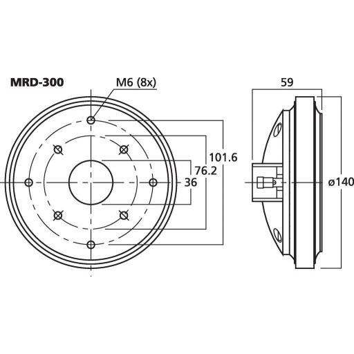 Stage Line Mrd-300 Motor de Agudos [1]