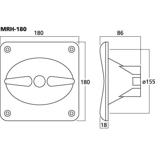 Difusor de Agudos Mrh-180 [1]