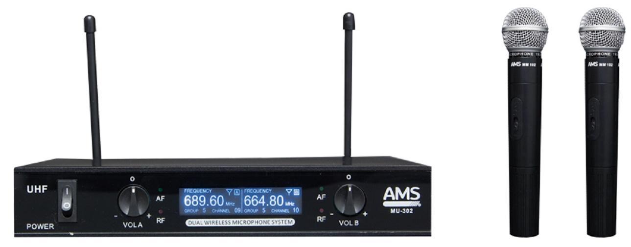 Ams Mu 302/MM 102 Sistema Inalámbrico de Mano