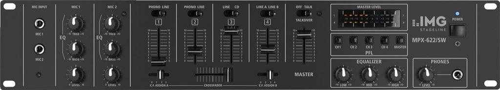 Stage Line Mpx-622/Sw Mezclador Dj