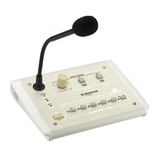 Monacor Pa-1120Rc Micrófono de Sobremesa para Megafonía