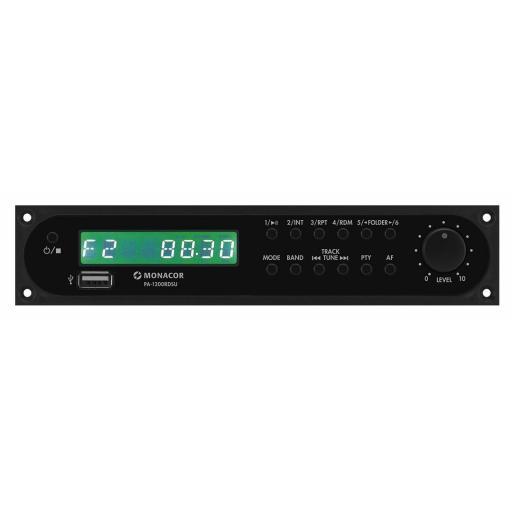 Monacor Pa-1200Rdsu Módulo Sintonizador/Usb para Amplificadores de Megafonía
