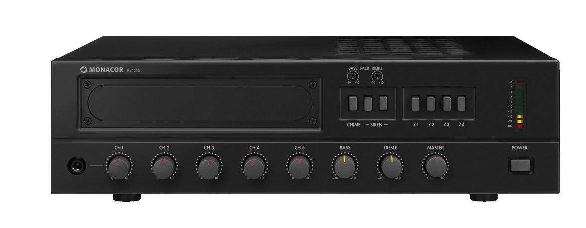 Monacor Pa-1200 Amplificador/Mezclador para Megafonía