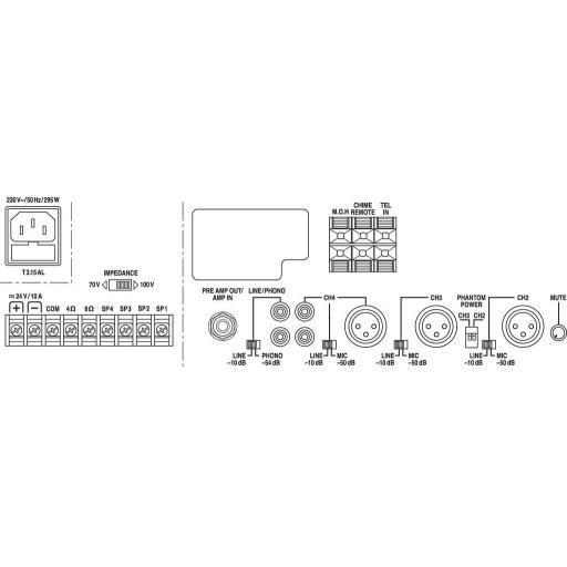 Monacor Pa-1200 Amplificador/Mezclador para Megafonía [2]