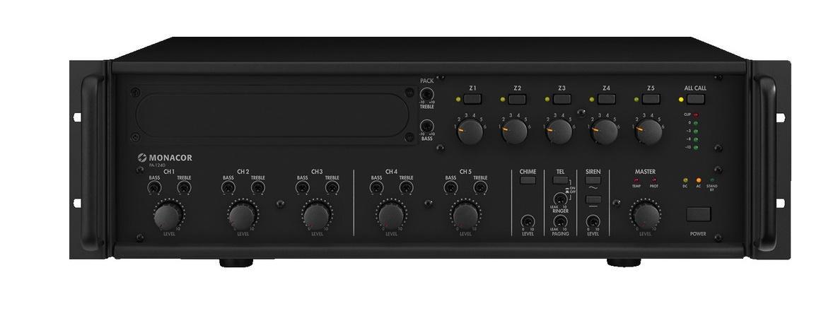 Monacor Pa-1240 Amplificador/Mezclador para Megafonía