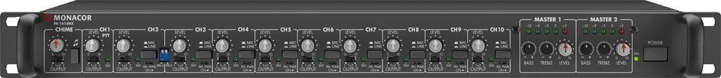 Monacor Pa-1414Mx Pre-Amplificador Linea/Micro