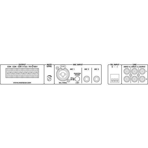 Monacor Pa-312 Amplificador / Mezclador para megafonía [2]
