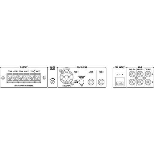 Monacor Pa-324 Amplificador / Mezclador para megafonía [2]