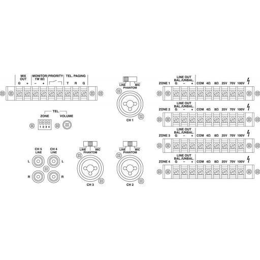 Monacor Pa-4040 Mezclador/Amplificador para Megafonía [1]