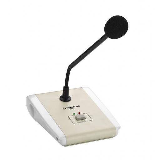 Monacor Pa-4300Ptt Micrófono de Sobremesa para Megafonía