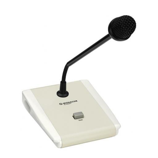 Monacor Pa-5000Ptt Micrófono de Sobremesa para Megafonía