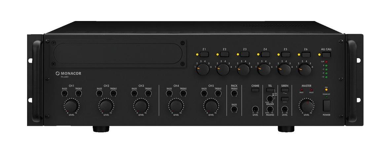 Monacor Pa-6480 Amplificador/Mezclador para Megafonia