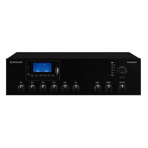 Monacor Pa-803Dap Amplificador/Mezclador para Megafonía