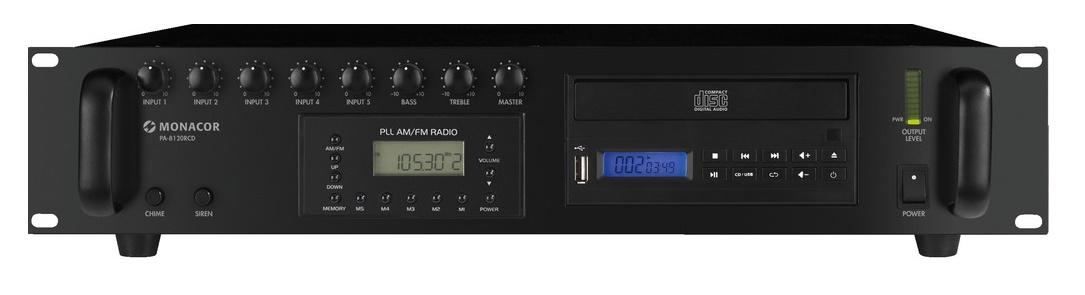 Monacor Pa-8120Rcd Amplificador / Mezclador para megafonía