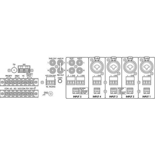 Monacor Pa-8120Rcd Amplificador / Mezclador para megafonía [2]