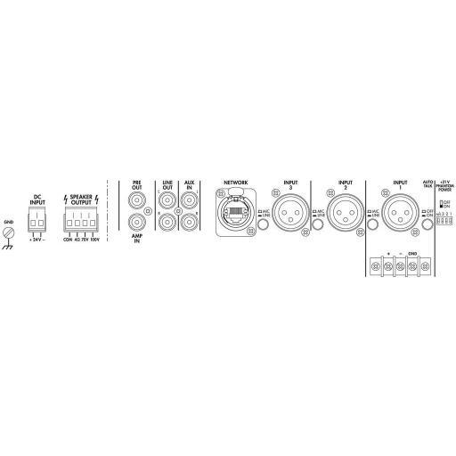 Monacor Pa-900Dt Amplificador/Mezclador para Megafonía [1]