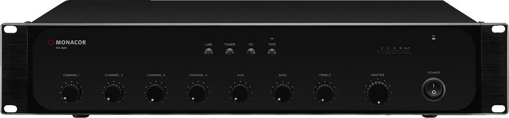 Monacor Pa-924 Amplificador/Mezclador para Megafonía