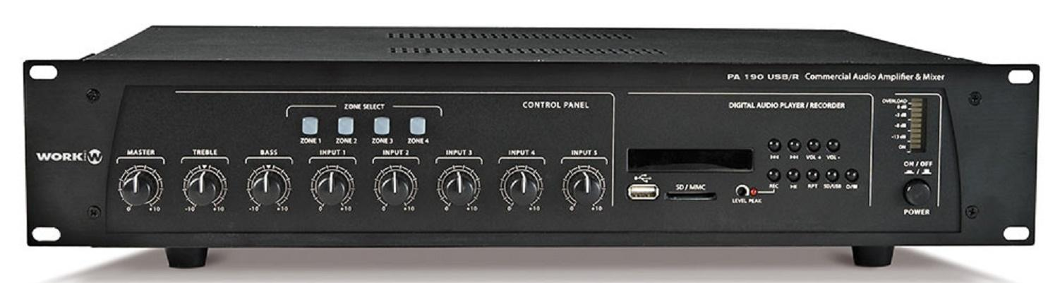 Work Pa 190 Usb/R Amplificador/Mezclador para Megafonía