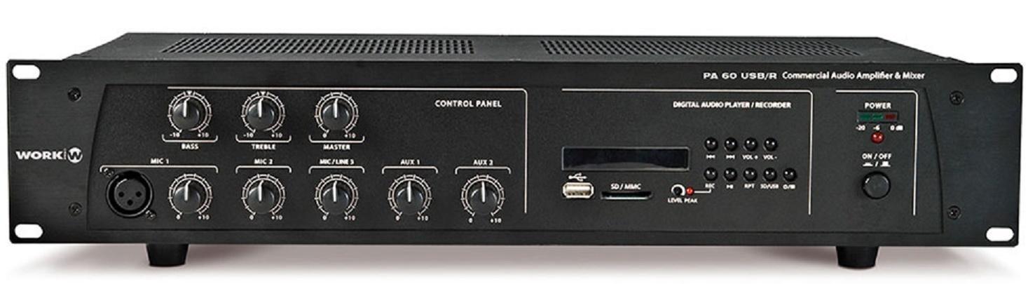 Work Pa 60 Usb/R Amplificador/Mezclador para Megafonía