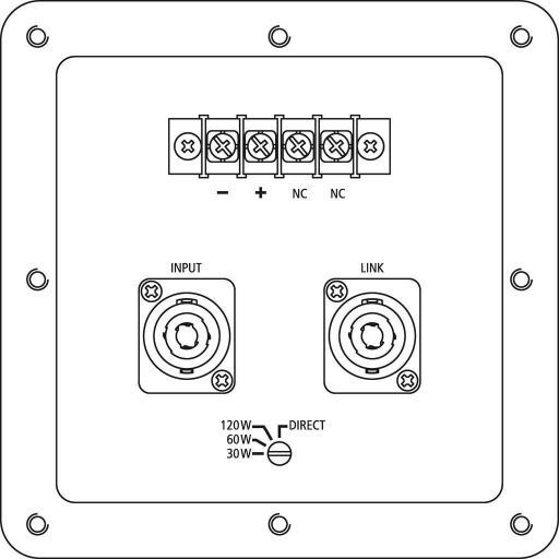 Stage Line Pab-82Wp/Ws Caja Acústica para Instalación [1]