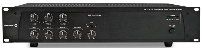Work Pa 120/2 Amplificador/Mezclador para Megafonía
