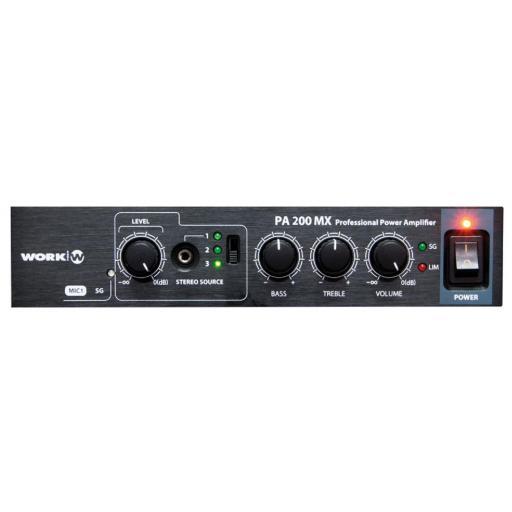 Work Pa 200 Mx Amplificador/Mezclador para Megafonía [2]